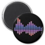 Equalizer - Blue/Purple Refrigerator Magnets