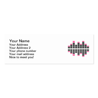 Equalizer Dj Turntables Double-Sided Mini Business Cards (Pack Of 20)