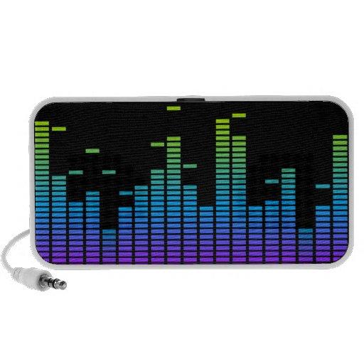 Equalizer Doodle Speaker (purple / blue / green)