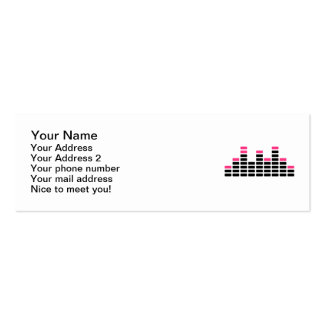 Equalizer mixing console Double-Sided mini business cards (Pack of 20)