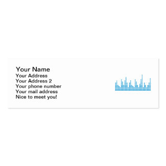 Equalizer music Double-Sided mini business cards (Pack of 20)