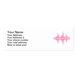 Equalizer music DJ Double-Sided Mini Business Cards (Pack Of 20)