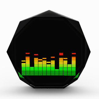 Equalizer Vibes from the Beat of DJ Music Black Acrylic Award