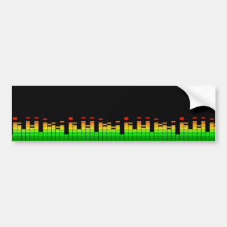 Equalizer Vibes from the Beat of DJ Music Black Bumper Sticker