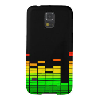 Equalizer Vibes from the Beat of DJ Music Black Galaxy S5 Case