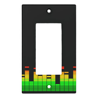 Equalizer Vibes from the Beat of DJ Music Black Light Switch Cover