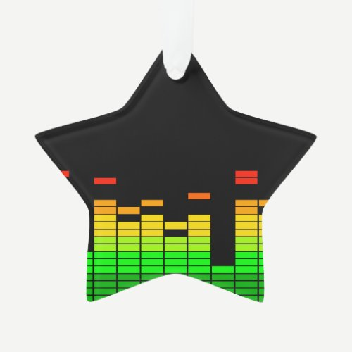 Equalizer Vibes from the Beat of DJ Music Black Ornament