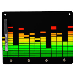 Equalizer Vibes from the Beat of DJ Music decor Dry Erase Board With Keychain Holder