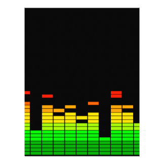 Equalizer Vibes from the Beat of DJ Music decor Letterhead