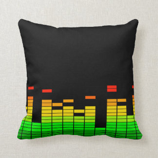 Equalizer Vibes from the Beat of DJ Music decor Throw Pillow