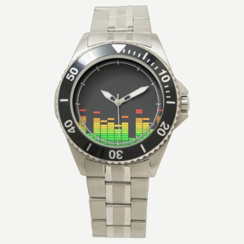 Equalizer Vibes from the Beat of DJ Music decor Wrist Watch