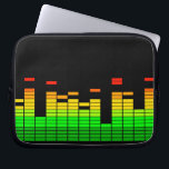 "Equalizer Vibes from the Beat of DJ Music Laptop Sleeve<br><div class=""desc"">A cool colorful equalizer graphic display graphic decor. Let the music play! 