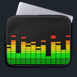 """Equalizer Vibes from the Beat of DJ Music Laptop Sleeve<br><div class=""""desc"""">A cool colorful equalizer graphic display graphic decor. Let the music play!        Here&#39;s a sampling of popular DJ music themed gifts.              Use the &quot;Ask this Designer&quot; link to contact us with your special design requests or for some assistance with any of your customization project needs.</div>"""