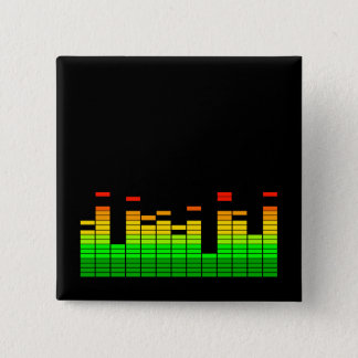Equalizer Vibes from the Beat of DJ Music Pinback Button