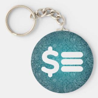 Equals Minimal Basic Round Button Keychain
