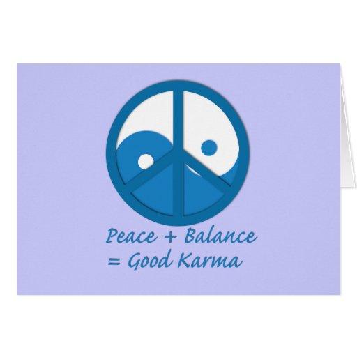 Equation for Good Karma Greeting Card