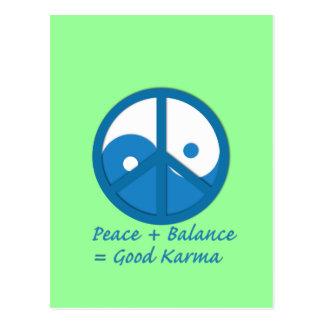 Equation for Good Karma Postcard
