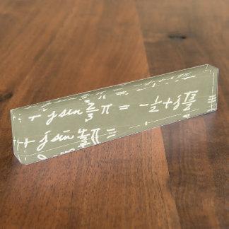 Equation Desk Nameplate