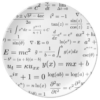 Equations of Math and Science China Plate