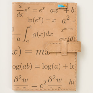 Equations of Math and Science Leather Journal