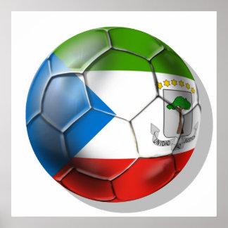 Equatorial Guinea 2014 World Soccer Brazil Poster