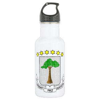 Equatorial Guinea Coat Of Arms 18oz Water Bottle