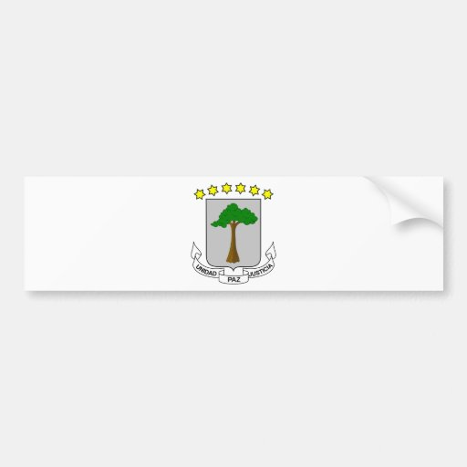 Equatorial Guinea Coat of Arms Bumper Sticker