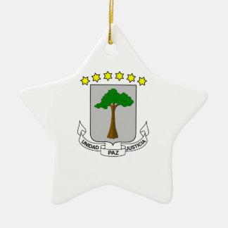 Equatorial Guinea Coat of Arms Ceramic Ornament