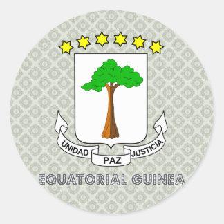 Equatorial Guinea Coat of Arms Classic Round Sticker