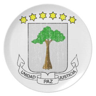 Equatorial Guinea Coat Of Arms Dinner Plate