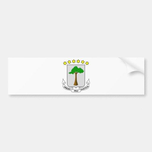 Equatorial Guinea Coat of arms GQ Bumper Stickers