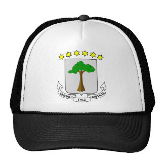 Equatorial Guinea Coat of arms GQ Trucker Hat