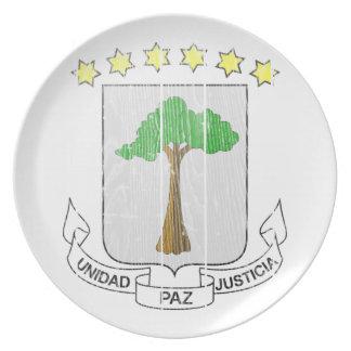 Equatorial Guinea Coat Of Arms Plate