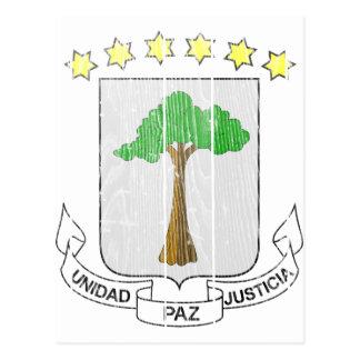 Equatorial Guinea Coat Of Arms Postcard