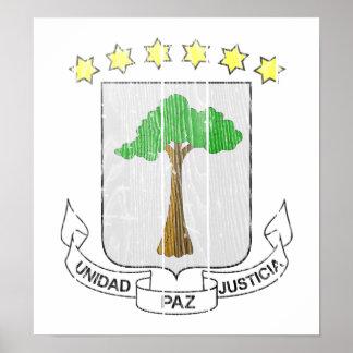 Equatorial Guinea Coat Of Arms Poster
