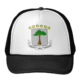 Equatorial Guinea Coat of Arms Trucker Hat