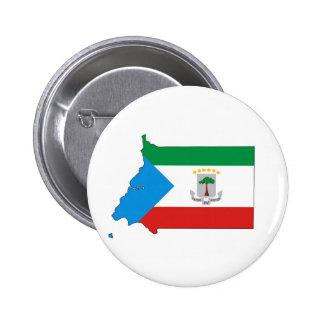 equatorial guinea country flag map shape pinback button