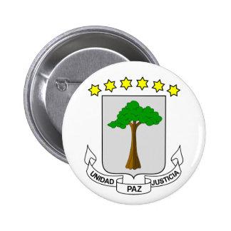 equatorial guinea emblem pinback button