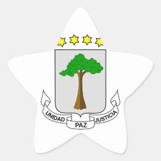 equatorial guinea emblem star sticker