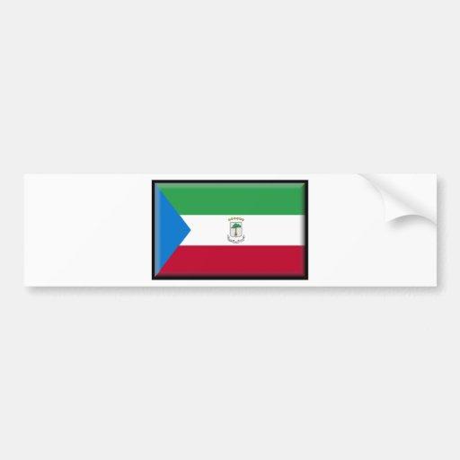 Equatorial Guinea Flag Bumper Stickers
