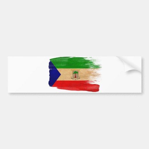 Equatorial Guinea Flag Bumper Sticker