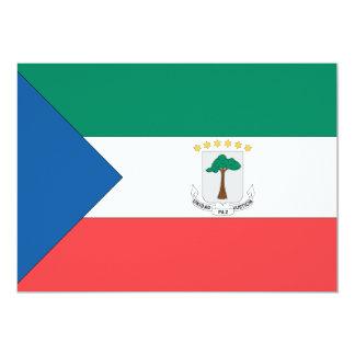 Equatorial Guinea Flag Card