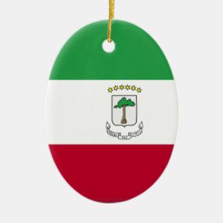 Equatorial Guinea Flag Ceramic Ornament