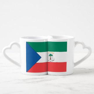 Equatorial Guinea Flag Couples' Coffee Mug Set