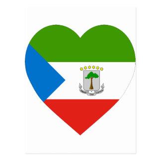 Equatorial Guinea Flag Heart Postcard