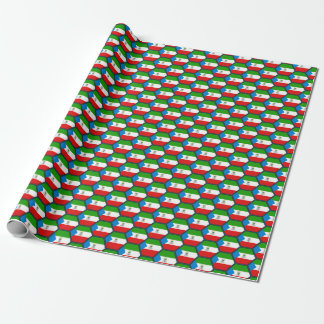 Equatorial Guinea Flag Honeycomb Wrapping Paper