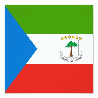 Equatorial Guinea Flag Invitation