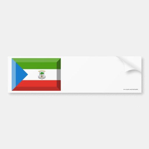 Equatorial Guinea Flag Jewel Bumper Sticker