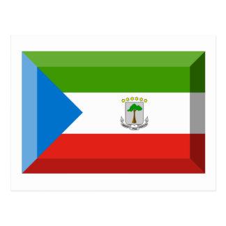 Equatorial Guinea Flag Jewel Postcard
