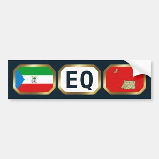 Equatorial Guinea Flag Map Code Bumper Sticker